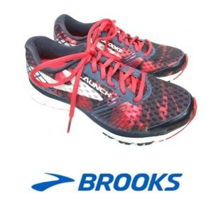Brooks Launch 3 running sneakers red navy 7.5